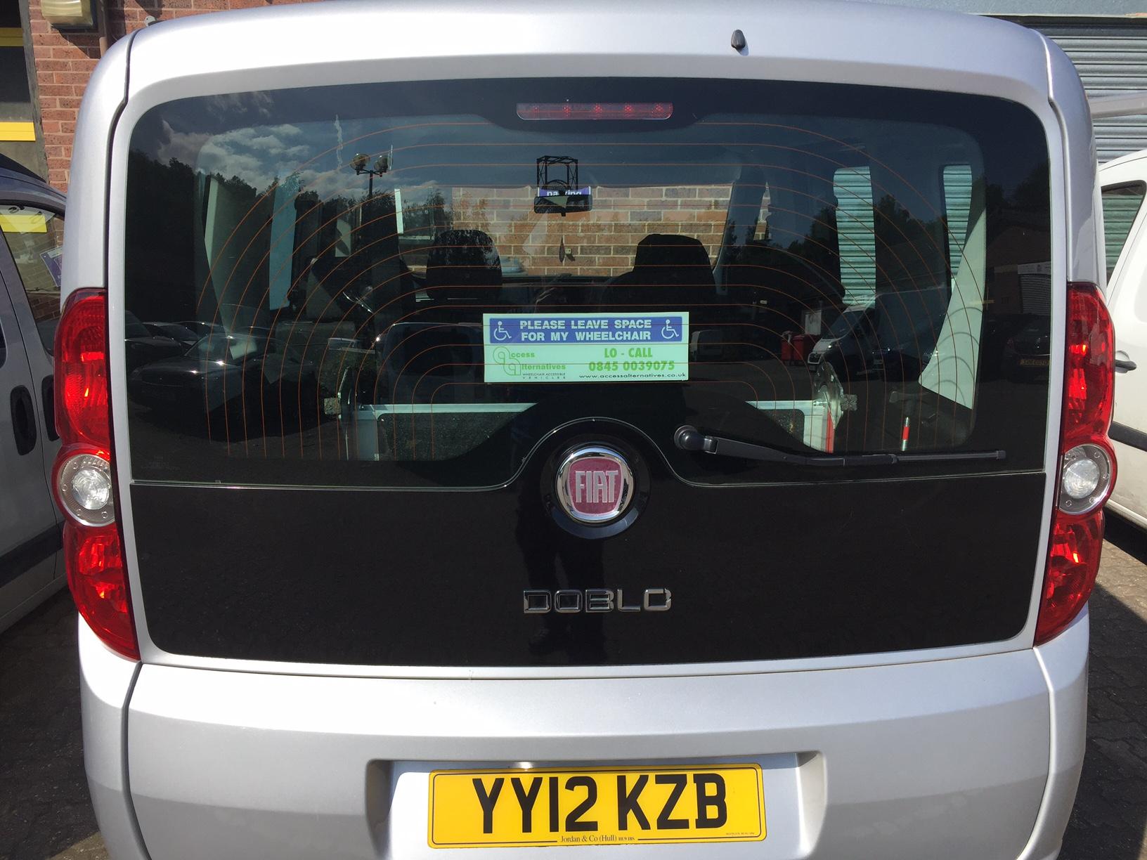 used wheelchair accessible fiat doblo my life 1 4 petrol manual rh accessalternatives co uk Fiat Doblo 4x4 Fiat Doblo Van